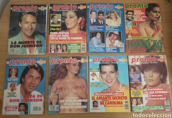 LOTE DE 8 REVISTA PRONTO. (Papel - Revistas y Periódicos Modernos (a partir de 1.940) - Revista Pronto)