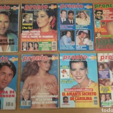 Coleccionismo de Revista Pronto: LOTE DE 8 REVISTA PRONTO.. Lote 195099385