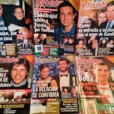 Coleccionismo de Revista Pronto: LOTE 6 REVISTAS AÑO 1999 PRONTO EMILIO ARAGÓN, PRÍNCIPE FELIPE, ROCÍO CARRASCO.... Lote 195241785