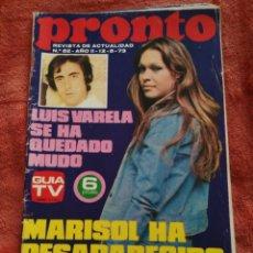 Coleccionismo de Revista Pronto: REVISTA PRONTO N.52 AÑO 73. Lote 195386588