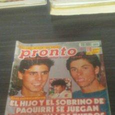 Coleccionismo de Revista Pronto: REVISTA PRONTO 10-8-1991. Lote 195420565
