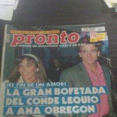 Coleccionismo de Revista Pronto: REVISTA PRONTO 5-10-1991. Lote 195420778