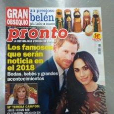 Coleccionismo de Revista Pronto: REVISTA PRONTO 2383 ENERO 2018. Lote 195433116