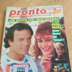 Coleccionismo de Revista Pronto: REVISTA PRONTO 971 JULIO IGLESIAS DANUTA LATO MARTA SÁNCHEZ CRISTAL TELENOVELA 1990. Lote 195555692