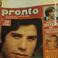 Coleccionismo de Revista Pronto: REVISTA PRONTO 383 AÑO 1979 JOHN TRAVOLTA GREASE, CHERYL LADD LOS ÁNGELES DE CHARLIE. Lote 189527351
