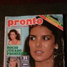 Coleccionismo de Revista Pronto: CAROLINA DE MONACO-SARA MONTIEL-ROCIO JURADO-ISABEL PANTOJA-AC/DC-MARISOL-GRETA GARBO. Lote 196228908