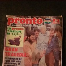 Coleccionismo de Revista Pronto: JULIO IGLESIAS-SARA MONTIEL-CARMEN CERVERA-BERTIN OSBORNE. Lote 196373181