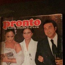 Coleccionismo de Revista Pronto: LOLA FLORES-JOHN LENNON-VICTORIA ABRIL-JIMENEZ DEL OSO-ROMINA POWER-ROCIO DURCAL-MARTES Y TRECE. Lote 196378632