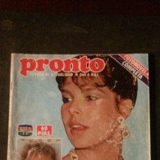 Coleccionismo de Revista Pronto: CAROLINA DE MONACO-NIKKA COSTA-MARIA JIMENEZ-MARISOL-BIGOTE ARROCET-FAMA-BROOKE SHIELDS. Lote 196381123