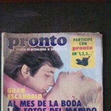 Coleccionismo de Revista Pronto: LOLITA LOLA FLORES-MOCEDADES-MIGUEL RIOS-TRIANA-JULIO IGLESIAS-UN DOS TRES. Lote 196445212