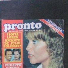 Coleccionismo de Revista Pronto: MARISOL-ROCIO JURADO-CAROLINA DE MONACO-JOHN LENNON-JUANITA REINA-PALOMA SAN BASILIO-MIGUEL BOSÉ. Lote 196506340