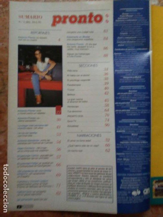 Coleccionismo de Revista Pronto: Revista Pronto n° 1205 10-6-95 junio Año 1995 Antonio Flores Anexo Lola de España 3 - Foto 2 - 197431097