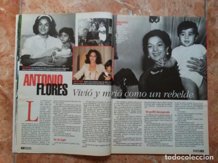Coleccionismo de Revista Pronto: Revista Pronto n° 1205 10-6-95 junio Año 1995 Antonio Flores Anexo Lola de España 3 - Foto 6 - 197431097