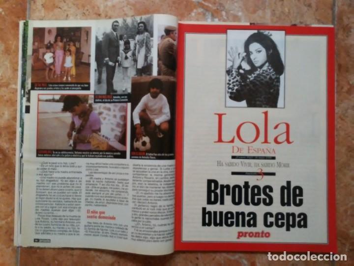 Coleccionismo de Revista Pronto: Revista Pronto n° 1205 10-6-95 junio Año 1995 Antonio Flores Anexo Lola de España 3 - Foto 7 - 197431097