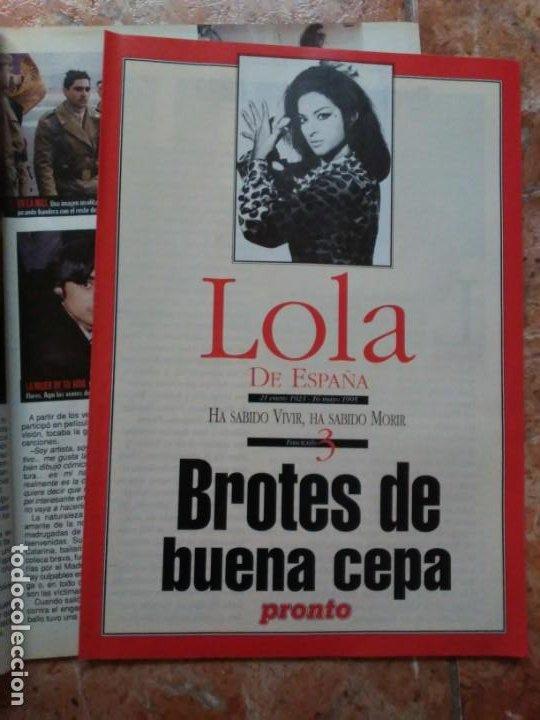 Coleccionismo de Revista Pronto: Revista Pronto n° 1205 10-6-95 junio Año 1995 Antonio Flores Anexo Lola de España 3 - Foto 8 - 197431097