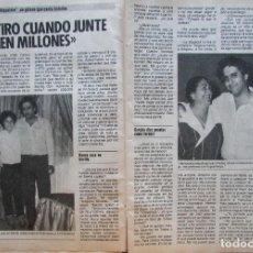Coleccionismo de Revista Pronto: RECORTE REVISTA PRONTO Nº 687 1985 CHIQUETETE. Lote 198367813