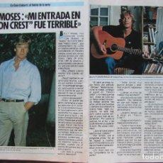 Coleccionismo de Revista Pronto: RECORTE REVISTA PRONTO Nº 687 1985 BILLY MOSES. Lote 198367961