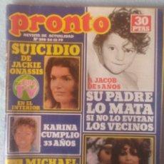 Coleccionismo de Revista Pronto: PRONTO - Nº398 - 24 DICIEMBRE 1979 - SUICIDIO ONASSIS, KARINA, SARA MONTIEL (VER SUMARIO EN FOTOS). Lote 198930981