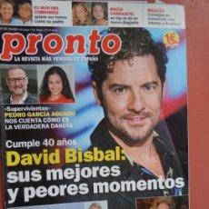 Coleccionismo de Revista Pronto: REVISTA PRONTO Nº 2457 - JUNIO 2019 - DAVID BISBAL CUMPLE 40 AÑOS ..... Lote 198941127