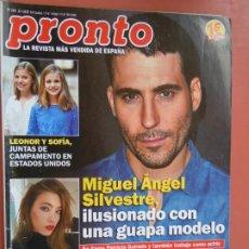 Coleccionismo de Revista Pronto: REVISTA PRONTO Nº 2461 - JULIO 2019 - MIGUEL ÁNGEL SILVESTRE - ISABEL GEMIO - TOÑI MORENO ..... Lote 198941340