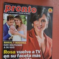 Coleccionismo de Revista Pronto: REVISTA PRONTO Nº 2458 - JUNIO 2019 - BISBAL - ROSA - MODA VERANO .... Lote 198941655