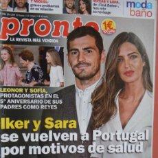 Coleccionismo de Revista Pronto: REVISTA PRONTO Nº 2460 - JUNIO 2019 - IKER Y SARA - LAS CAMPOS - MODA BAÑO .... Lote 198941781