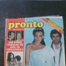 Coleccionismo de Revista Pronto: MARIA JOSE CANTUDO-CAROLINA DE MONACO-JOHN LENNON-ANA BELEN-PERET-PARCHIS-ISABEL PANTOJA-PAQUIRRI. Lote 199110730