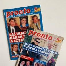 Coleccionismo de Revista Pronto: REVISTAS PRONTO (LOTE DE 2). Lote 199188597