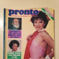 Colecionismo da Revista Pronto: NT PRONTO 576 CHANQUETE BEATRIZ CARVAJAL LA LOLI CLAN MIGUEL BOSE MARIA DOLORES PRADERA LOLITA. Lote 199295257