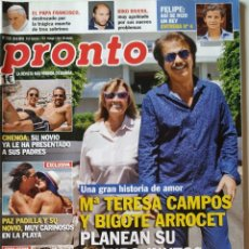Colecionismo da Revista Pronto: REVISTA PRONTO Nº 2208 MARIA TERESA CAMPOS JANE BADLER MARÍA JESÚS Y SU ACORDEÓN PAZ PADILLA CEROLO. Lote 201368008