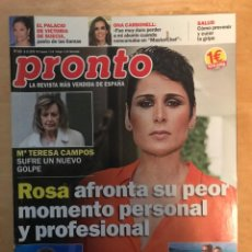 Coleccionismo de Revista Pronto: REVISTA PRONTO - NUM: 2431 8-12-2018 - ROSA AFRONTA SU PEOR MOMENTO PERSONAL Y PROFESIONAL. Lote 201553108