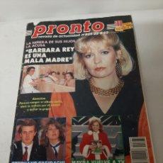 Coleccionismo de Revista Pronto: REVISTA PRONTO N? 885 DEL AÑO 1989, BÁRBARA REY, SABRINA, MAYRA. USADA. Lote 203933607