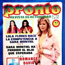 Coleccionismo de Revista Pronto: PRONTO - 7 2 1975. Lote 204703052