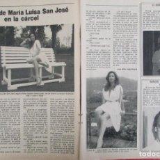 Coleccionismo de Revista Pronto: RECORTE REVISTA PRONTO Nº 531 1982 MARÍA LUISA SAN JOSÉ. Lote 204976090