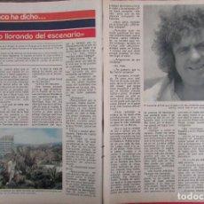 Coleccionismo de Revista Pronto: RECORTE REVISTA PRONTO Nº 531 1982 DIANGO. MANOLO ESCOBAR. Lote 204976191