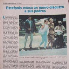 Coleccionismo de Revista Pronto: RECORTE REVISTA PRONTO Nº 531 1982 ESTEFANÍA DE MÓNACO. Lote 204976251