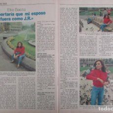 Coleccionismo de Revista Pronto: RECORTE REVISTA PRONTO Nº 531 1982 ELSA BAEZA. Lote 204976300