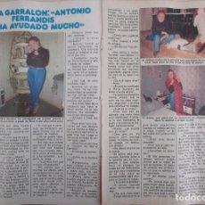 Coleccionismo de Revista Pronto: RECORTE REVISTA PRONTO Nº 511 1982 MARIA GARRALON. Lote 204976742