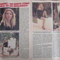 Coleccionismo de Revista Pronto: RECORTE REVISTA PRONTO Nº 511 1982 MARIA JIMENEZ. Lote 204976795