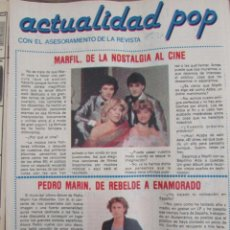 Coleccionismo de Revista Pronto: RECORTE REVISTA PRONTO Nº 511 1982 MARFIL, PEDRO MARIN. Lote 204976922