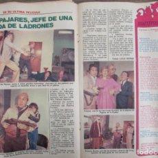 Coleccionismo de Revista Pronto: RECORTE REVISTA PRONTO Nº 511 1982 ANDRES PAJARES. Lote 204976967