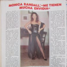 Coleccionismo de Revista Pronto: RECORTE REVISTA PRONTO Nº 511 1982 MONICA RANDALL, NIKKA COSTA. Lote 204977073