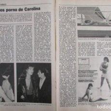 Coleccionismo de Revista Pronto: RECORTE REVISTA PRONTO Nº 534 1982 CAROLINA DE MONACO. Lote 204977216