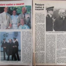 Coleccionismo de Revista Pronto: RECORTE REVISTA PRONTO Nº 549 1982 RAINIERO DE MONACO. Lote 204978358