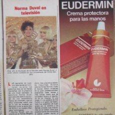 Coleccionismo de Revista Pronto: RECORTE REVISTA PRONTO Nº 549 1982 NORMA DUVAL. Lote 204978531