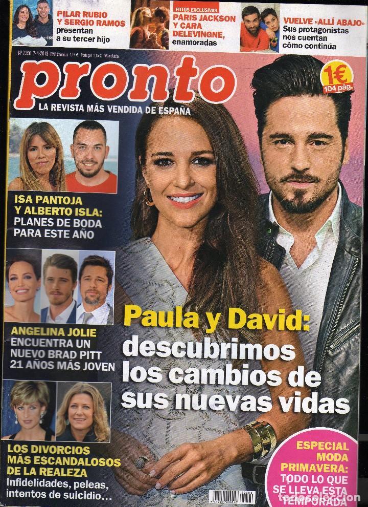 REVISTA PRONTO Nº 2396 - 7-4-2018 · 104 PÁGINAS - (PESO: 195 GRAMOS) · EN PORTADA: PAULA ECHEVARRÍA (Papel - Revistas y Periódicos Modernos (a partir de 1.940) - Revista Pronto)