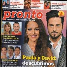 Coleccionismo de Revista Pronto: REVISTA PRONTO Nº 2396 - 7-4-2018 · 104 PÁGINAS - (PESO: 195 GRAMOS) · EN PORTADA: PAULA ECHEVARRÍA. Lote 206135028