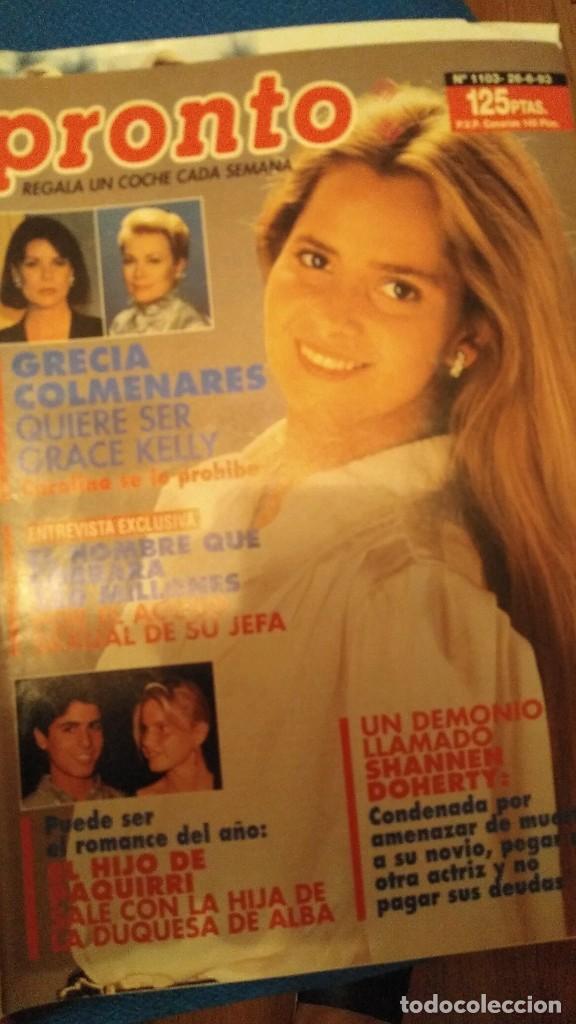 Coleccionismo de Revista Pronto: Revista Pronto 1103 Grecia Colmenares Topacio Manuela en Hollywood, Camilo Sesto, Sonia Martínez - Foto 3 - 206188297