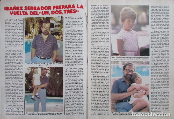 RECORTE REVISTA PRONTO Nº 508 1982 CHICHO IBAÑEZ SERRADOR. UN, DOS, TRES... (Papel - Revistas y Periódicos Modernos (a partir de 1.940) - Revista Pronto)