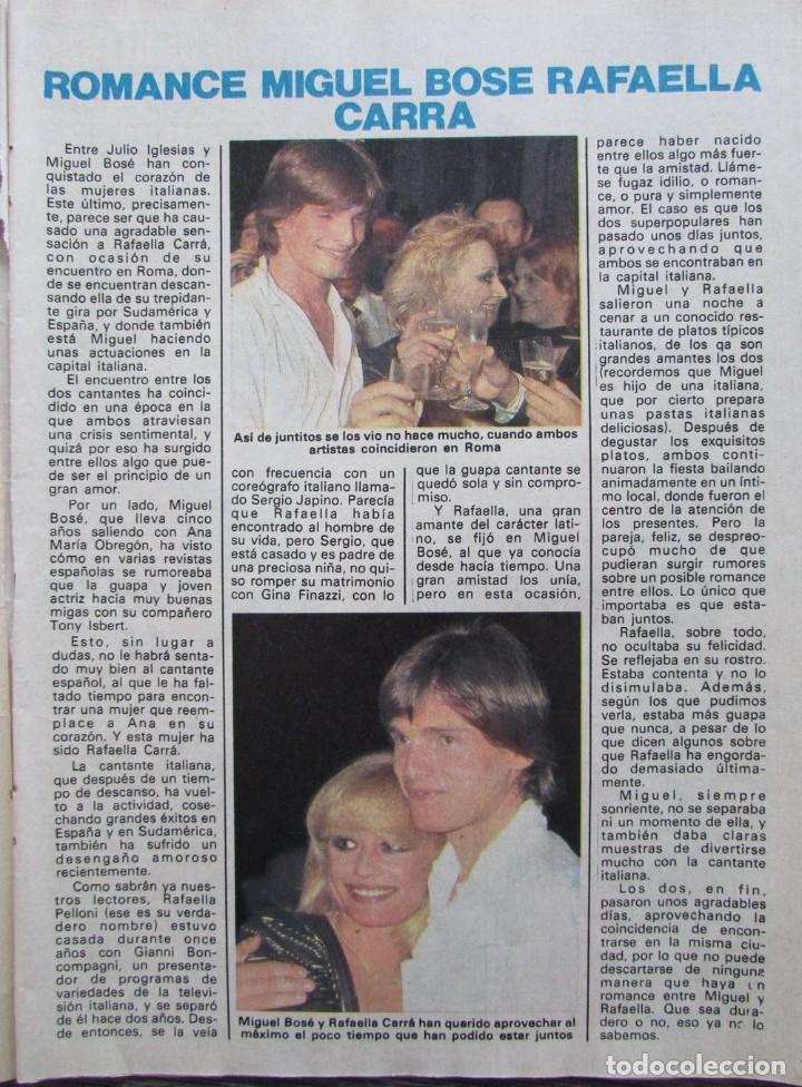 RECORTE REVISTA PRONTO Nº 508 1982 MIGUEL BOSÉ Y RAFFAELLA CARRÁ (Papel - Revistas y Periódicos Modernos (a partir de 1.940) - Revista Pronto)